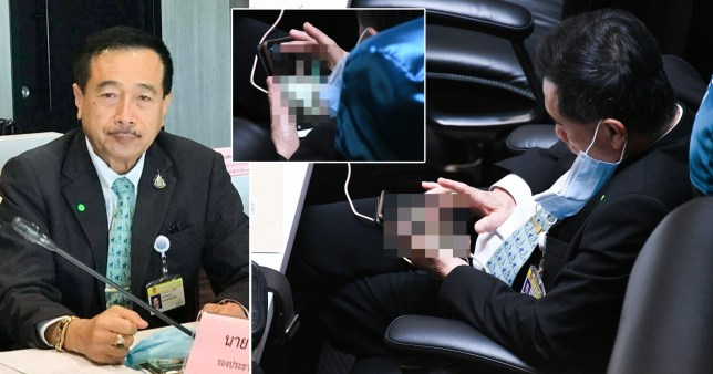 """Nude photos at the parliament – Thai MP """"Ronnathep Anuwat"""" was snapped looking through them"""