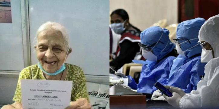 106 years old women beats COVID, leaves hospital with a large smile