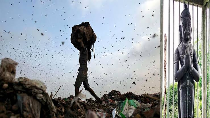Ragpicker spends Rs 10 Lakh to buy Land, installs his own statue
