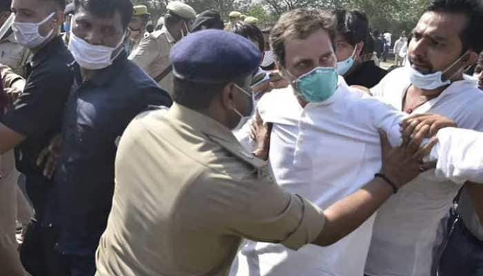 Rahul Gandhi arrested after being pushed, shoved to the ground