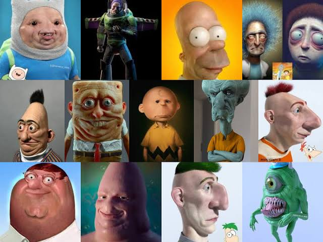 These Realistic Cartoon Characters will make you runaway in real life