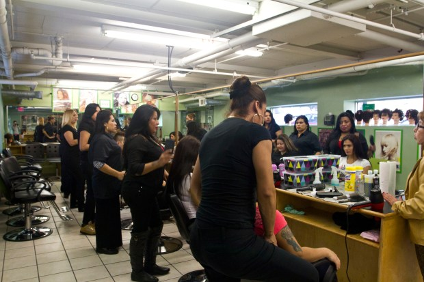 The women attend daily cosmetology lessons and practice a wide array of services they will be expected to perform once they become fully licensed cosmetologists. (The Ink/Valerie Dekimpe)