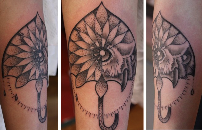 Owlella -Tattoo by Delan Canclini