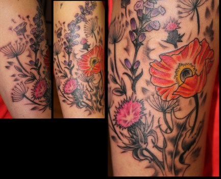 wildflower tattoo