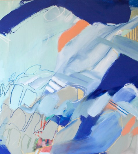 (SOLD) Run (The Paradox of Rest and Run) - mixed media on canvas - 42x38 inches - 2014
