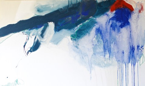 (SOLD) In the Little Things - acrylic, soft pastel, and oil pastel on canvas - 36x60 inches - 2014