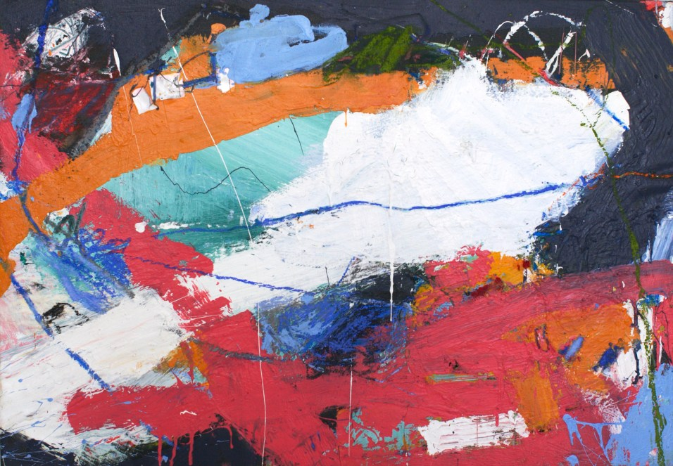 Caught Up - mixed media on canvas - 22x33 inches - 2015
