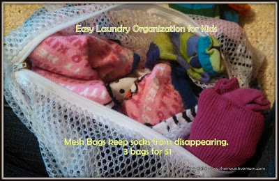 Easy, Inexpensive Laundry Organization for Kids