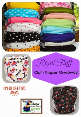 Royal Fluff Cloth Diaper Giveaway - Under the Rainbow Giveaway Hop!