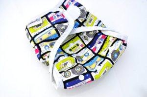 Zookaboo Mixed Tape Diaper Cover #4thTimeBabyShower
