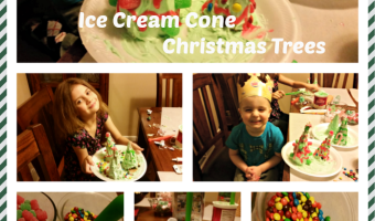 Pinterest IRL: Ice Cream Cone Christmas Trees