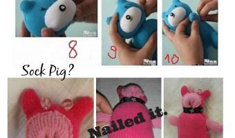 Sock Teddy Bear – Nailed it!