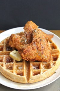 Galentine's Day Waffles - Chicken and Waffles