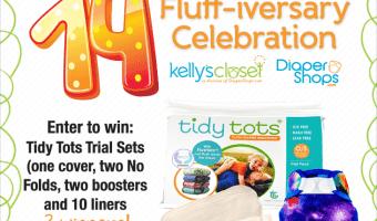 Tidy Tots Cloth Diaper Giveaway – 3 Winners! – Kelly's Closet 14th Fluff-versary
