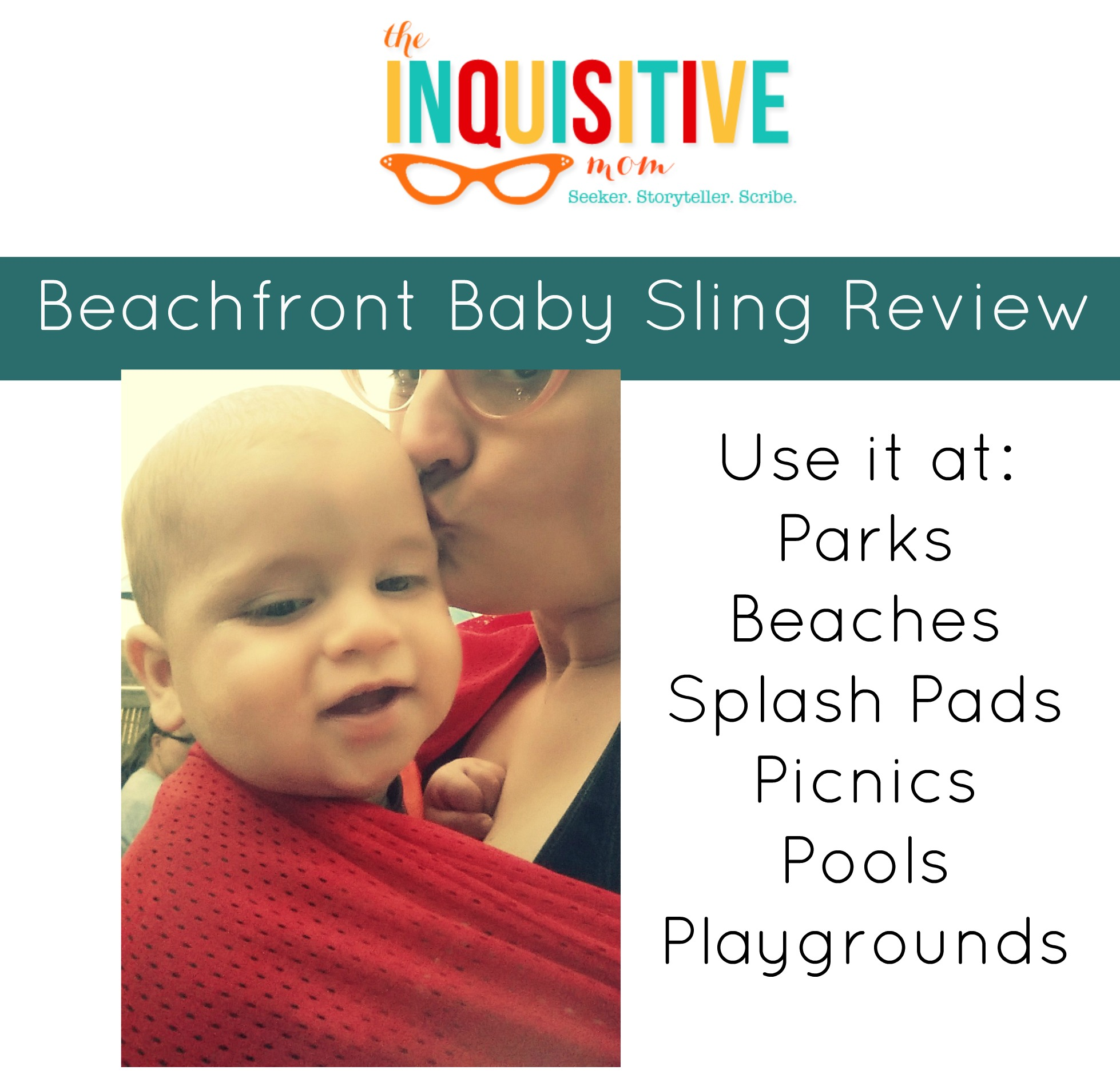Beachfront Baby Sling for Summer The Inquisitive Mom