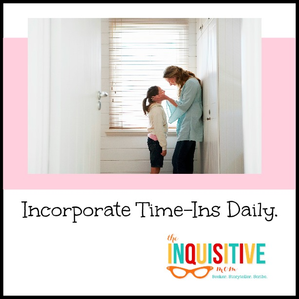 Incorporate Time Ins Daily with a goal of 50 pats or praises a day.