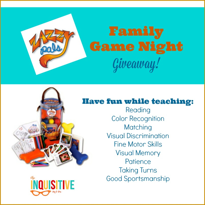 Zazzy Pals Family Game Night Giveaway for Canine Cardz from The Inquisitive Mom Blog.