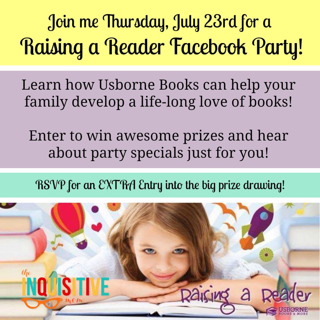 The Inquisitive Mom Raising a Reader Facebook Party with Usborne Books