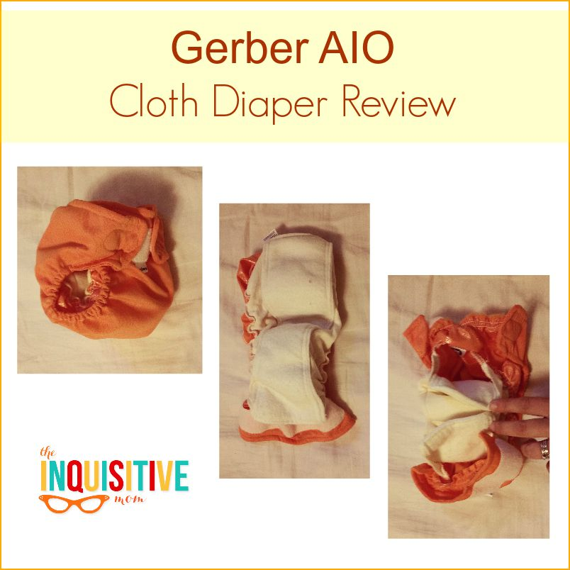 Gerber AIO Cloth Diaper Review from The Inquisitive Mom