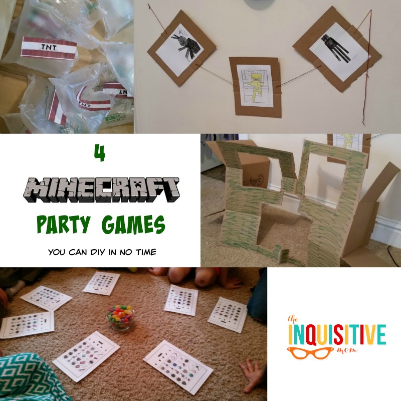Minecraft Party Games You Can DIY In No Time The Inquisitive Mom - Minecraft spiele mit tnt