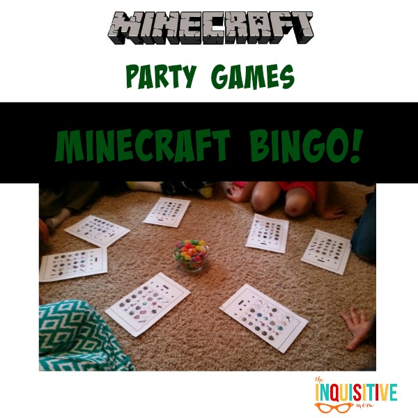 Minecraft Party Games. Minecraft Bingo.