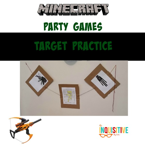 Minecraft Party Games. Target Practice.