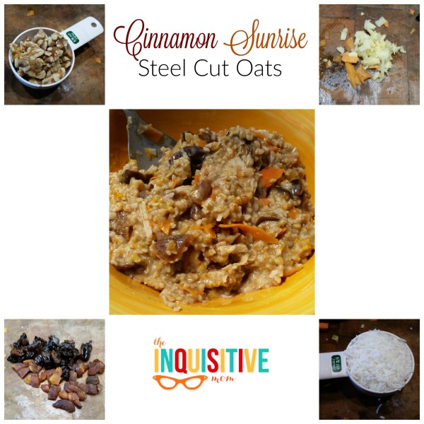 Cinnamon Sunrise Steel Cut Oats Recipe on The Inquisitive Mom
