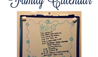 Simple, Daily Family Calendar