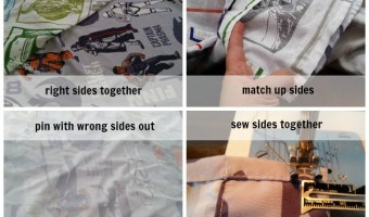 Easy DIY Sheet Quilt