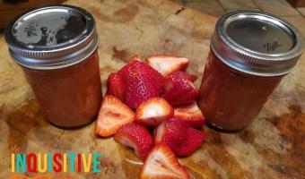 Strawberry Rhubarb Freezer Jam with Pomona's Pectin