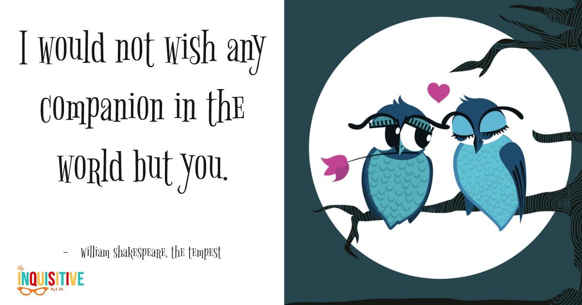 Facebook Valentines Shakespeare
