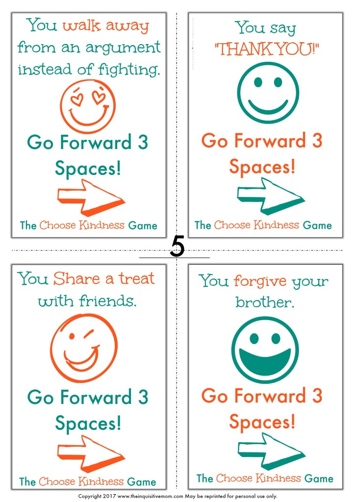 The Choose Kindness Game from The Inquisitive Mom Page 5