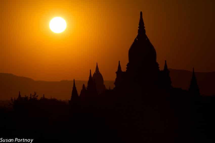 Sunset in Bagan, Myanmar