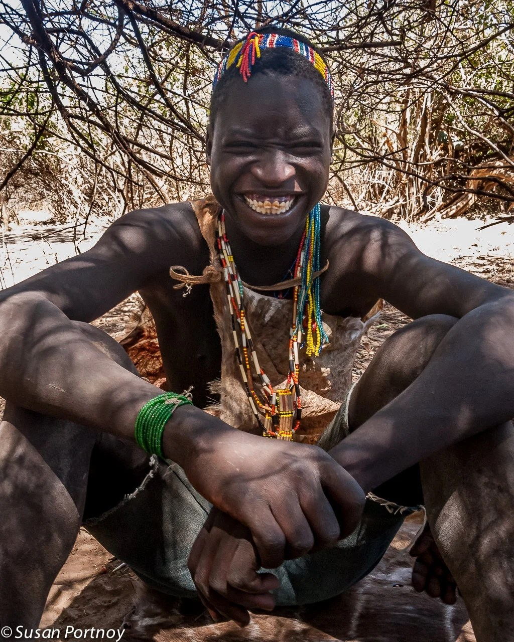 Smiling Hadzabe man in Tanzania