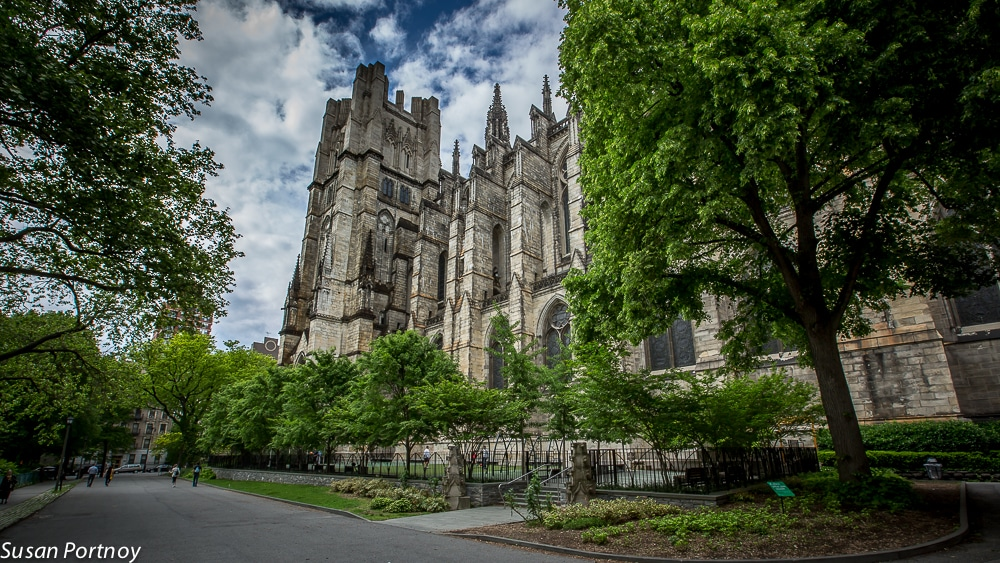 The south side of The Cathedral of St. John the Divine
