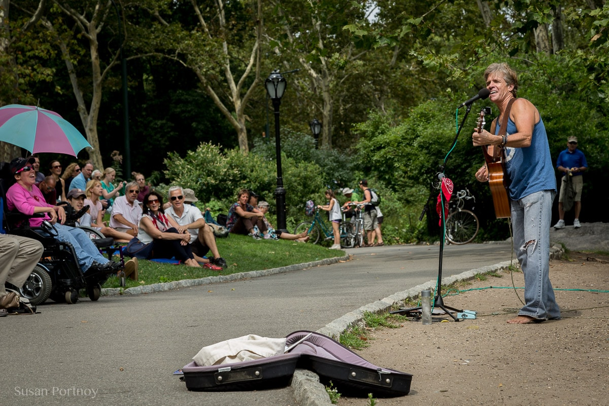 David Ippolito sings and plays guitar in Central Park - The Insatiable Traveler