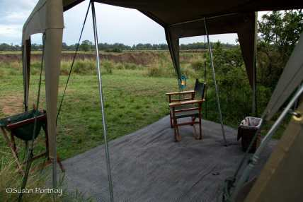 View of the Mara River from my little tent patio