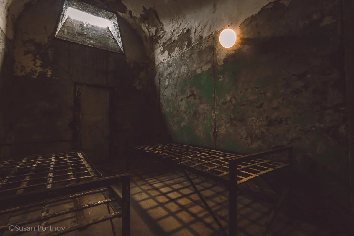 Inside a cell at Eastern State Penitentiary