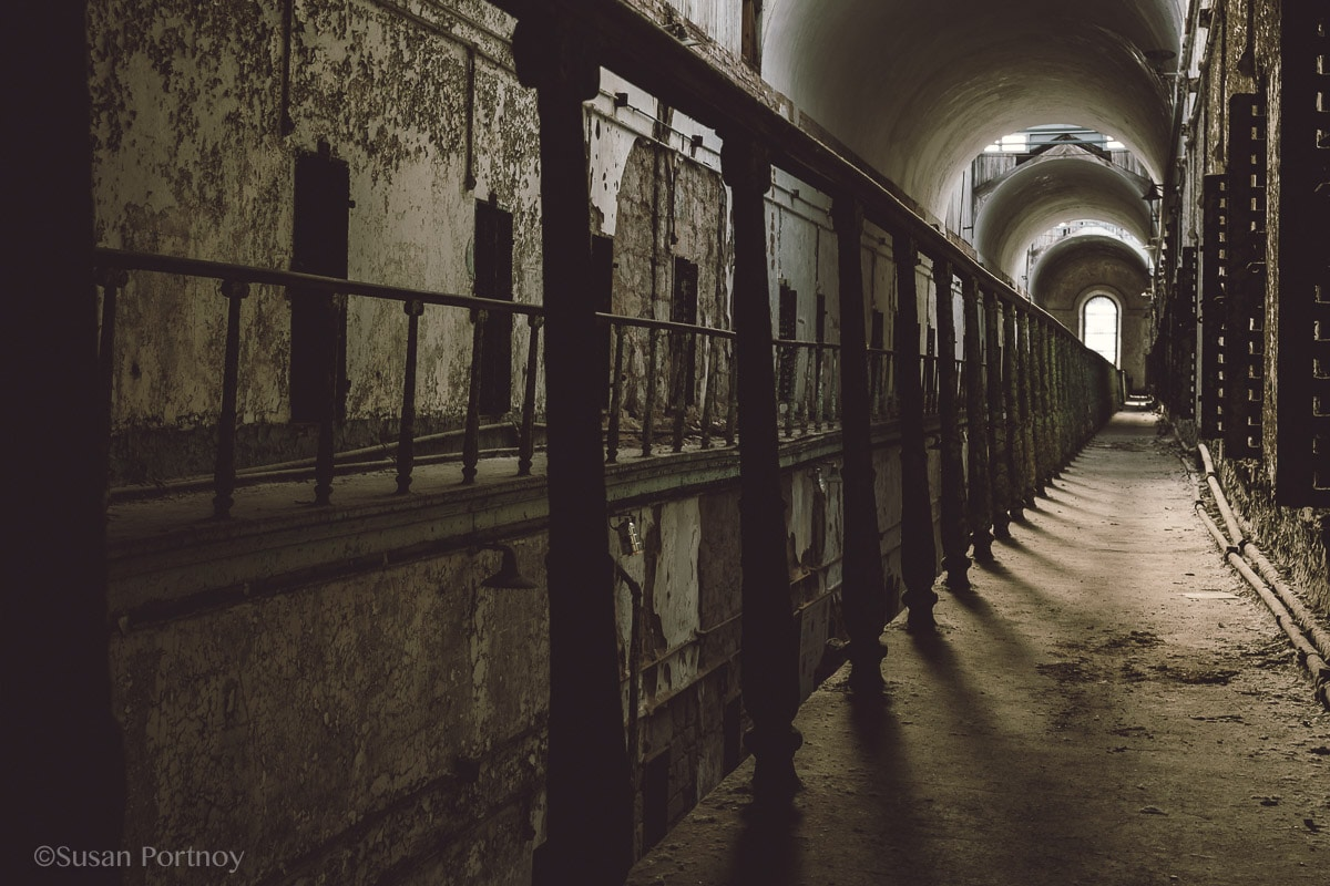 Along Cell Block 7 Eastern State Penitentiary