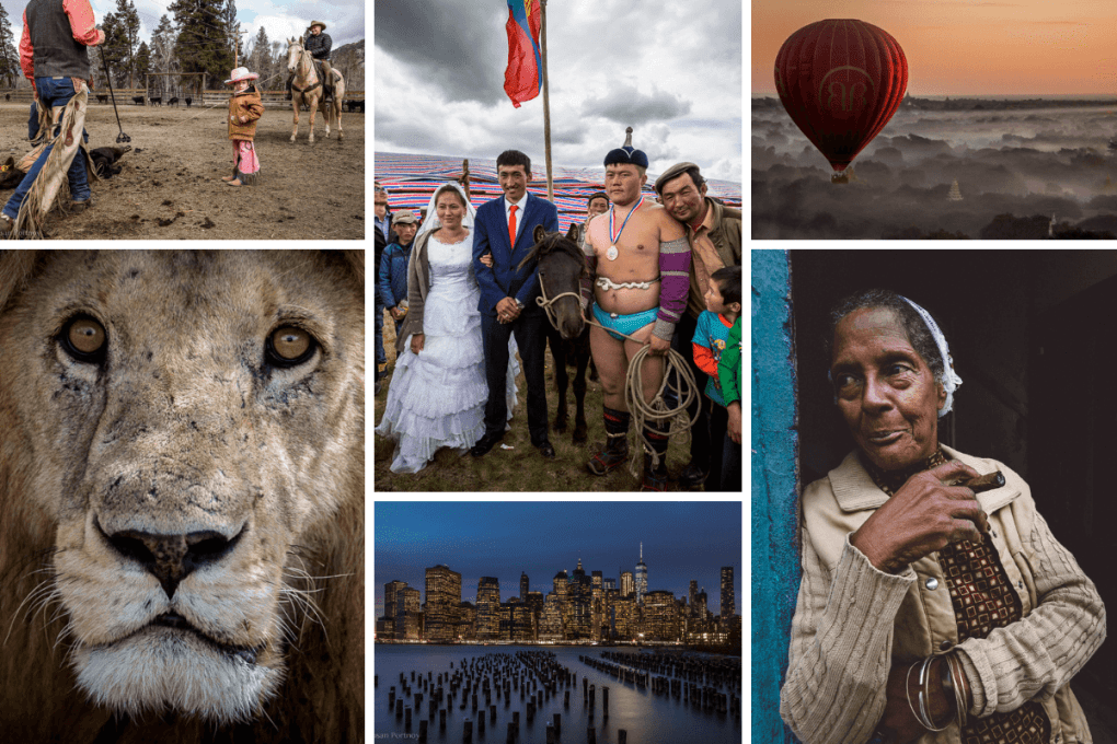 Collage of travel photos by Susan Portnoy