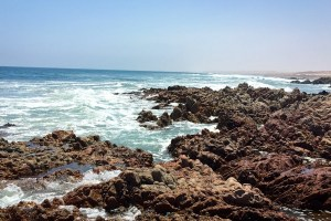 The jagged coastline of Namibia's Skeleton Coast