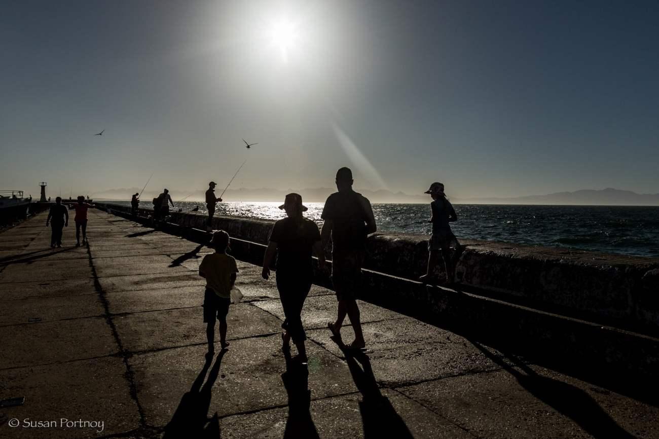 Dock at Kalk Bay, South Africa