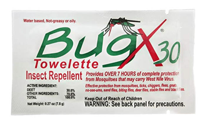Bug X 12640 Insect Repellent Towelettes, 25-Count