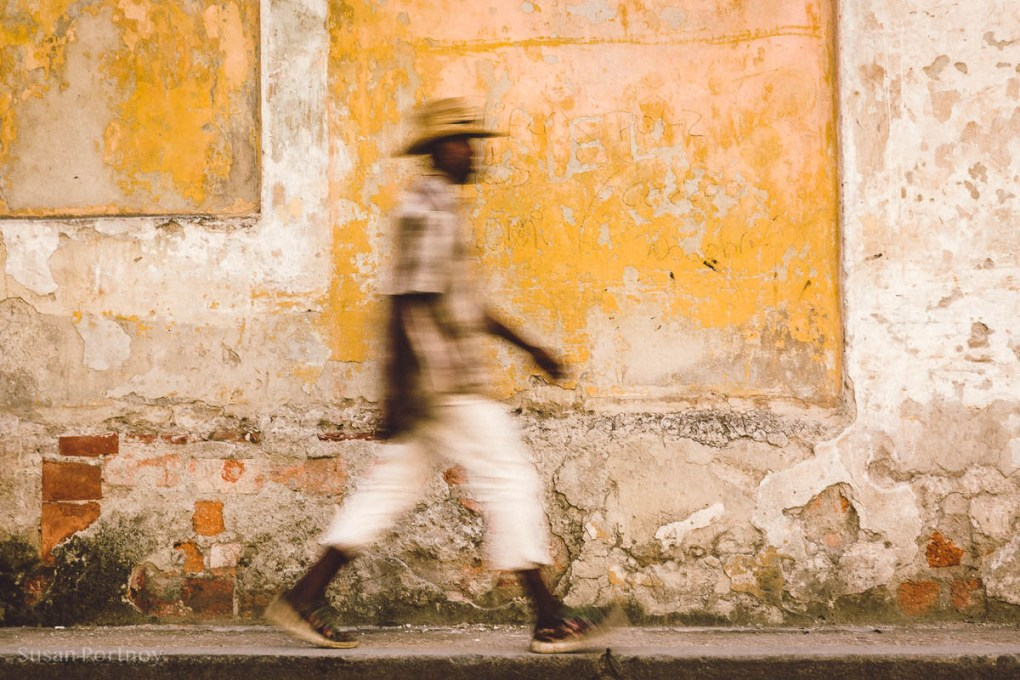 Man walking in Old Havana