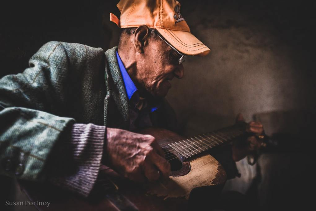 Paolo playing guitar in Old Havana, Cuba