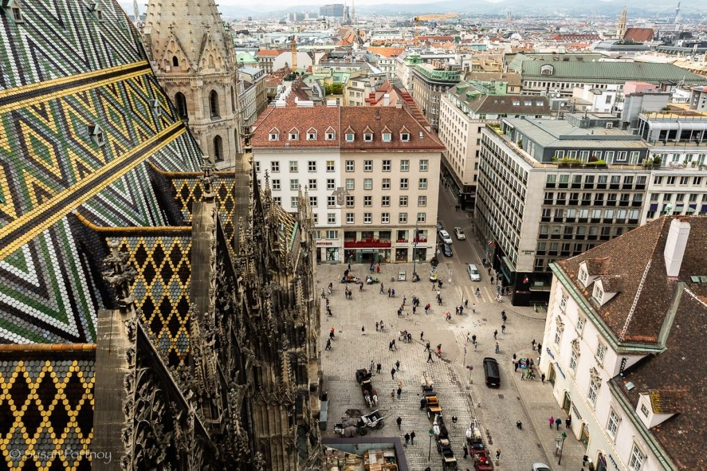 view of Vienna from St. Stephen's Cathedral