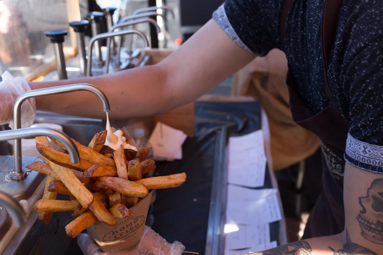Home Frite House Fries with Garlic Aoili at Brooklyn's Smorgasburg -The Insatiable Traveler