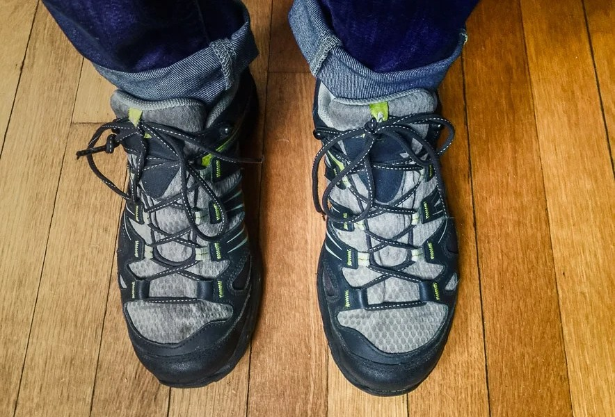Salomon Women's Ellipse GTX Hiking Shoe, Thyme/Asphalt/Dark Green, 8 M US