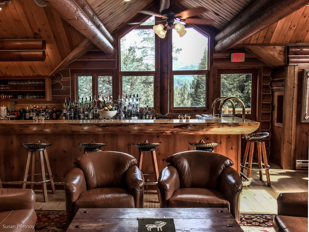The bar at Triple Creek Ranch in Darby Montana