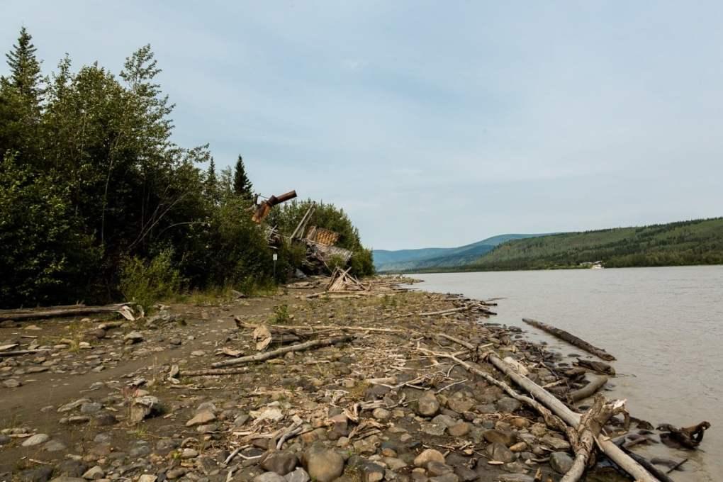 Exploring Sternwheeler View down the Yukon river - Graveyard Dawson City, Yukon